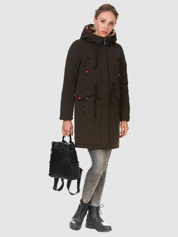 Пуховик текстиль, цвет темно-коричневый, арт. 06901012  - цена 2290 руб.  - магазин TOTOGROUP
