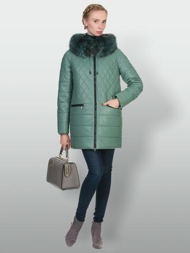 Кожаная куртка эко-кожа 100% П/А, цвет зеленый, арт. 06902656  - цена 5890 руб.  - магазин TOTOGROUP