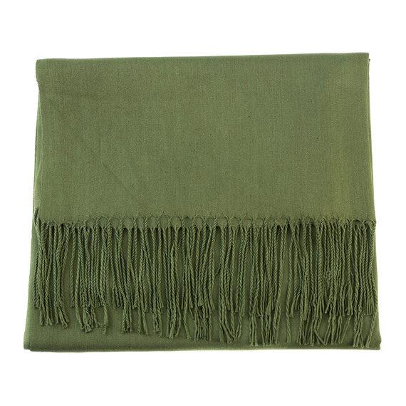 Шарф 100% кашемир, цвет зеленый, арт. 06903543  - цена 440 руб.  - магазин TOTOGROUP
