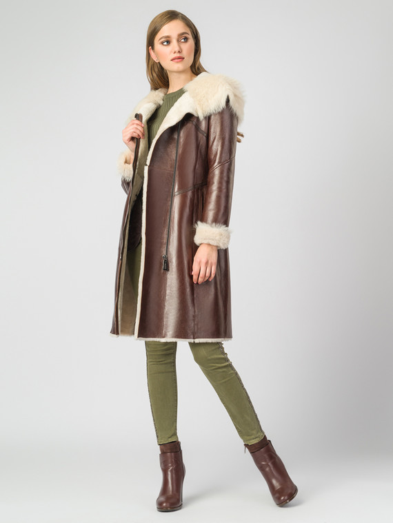 Дубленка дуб. овчина, цвет коричневый, арт. 07000624  - цена 39990 руб.  - магазин TOTOGROUP