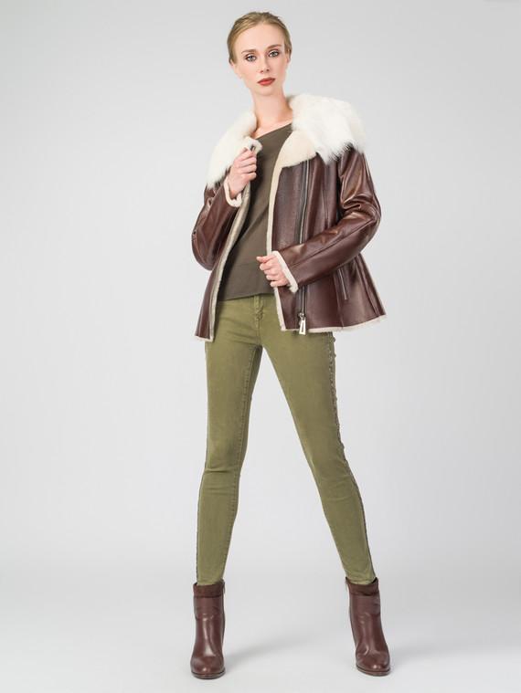 Дубленка дуб. овчина, цвет коричневый, арт. 07003201  - цена 22690 руб.  - магазин TOTOGROUP