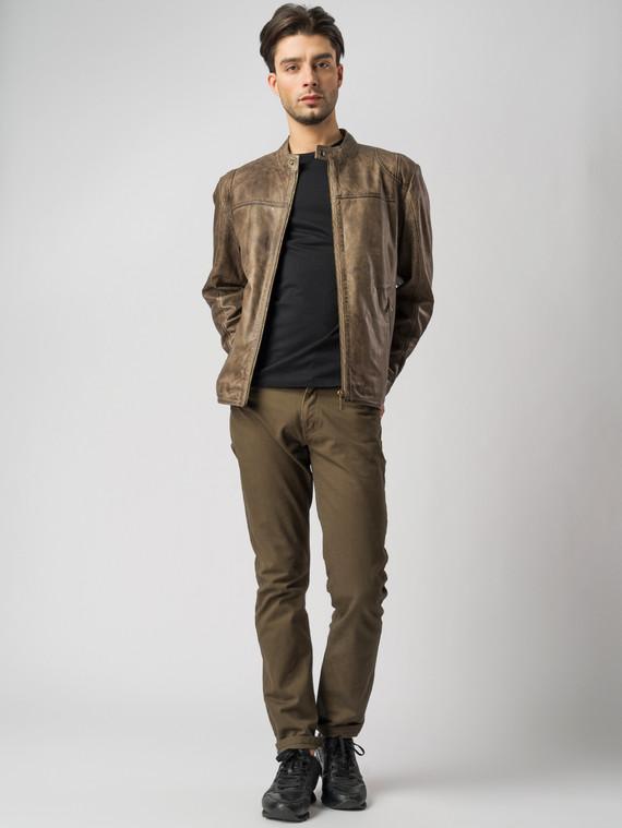 Кожаная куртка кожа , цвет коричневый, арт. 07003414  - цена 11290 руб.  - магазин TOTOGROUP