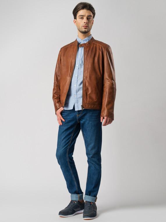 Кожаная куртка кожа , цвет рыжий, арт. 07003415  - цена 11990 руб.  - магазин TOTOGROUP