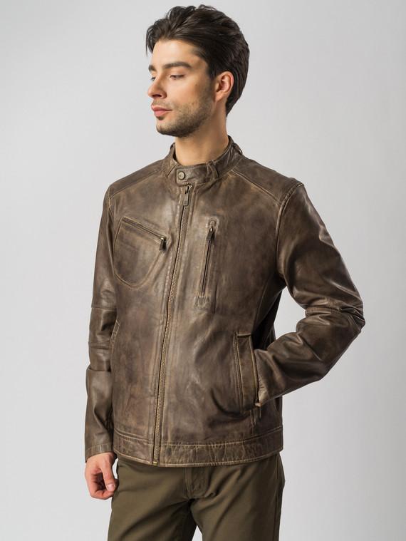 Кожаная куртка кожа , цвет коричневый, арт. 07003416  - цена 13390 руб.  - магазин TOTOGROUP