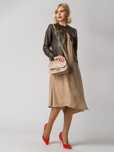 Кожаная куртка кожа , цвет темно-коричневый, арт. 07005485  - цена 8990 руб.  - магазин TOTOGROUP