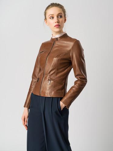 Кожаная куртка кожа , цвет коричневый, арт. 07005501  - цена 9490 руб.  - магазин TOTOGROUP