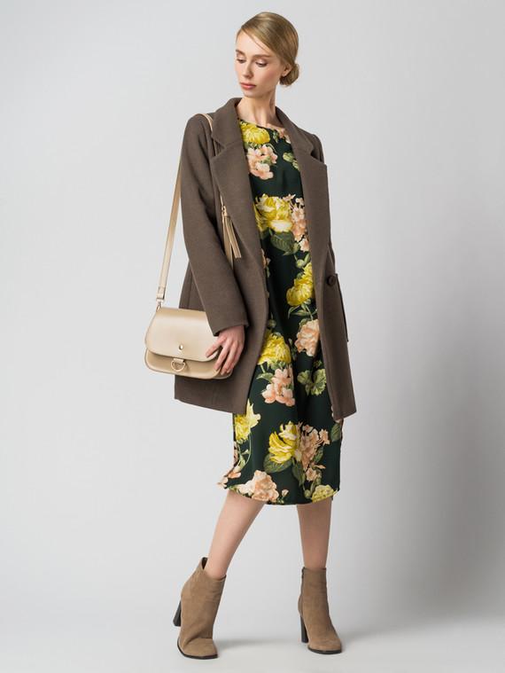 Текстильное пальто 30%шерсть, 70% п.э, цвет коричневый, арт. 07005832  - цена 5290 руб.  - магазин TOTOGROUP