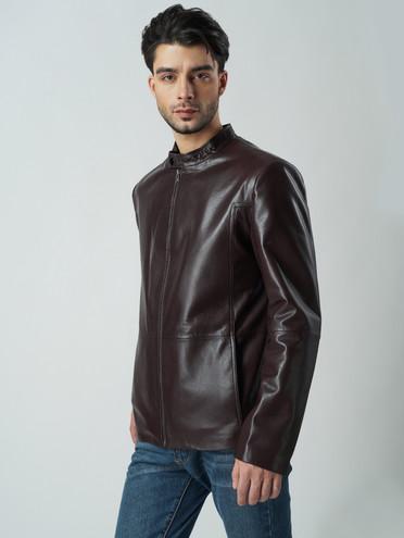 Кожаная куртка кожа баран, цвет темно-коричневый, арт. 07005860  - цена 8990 руб.  - магазин TOTOGROUP