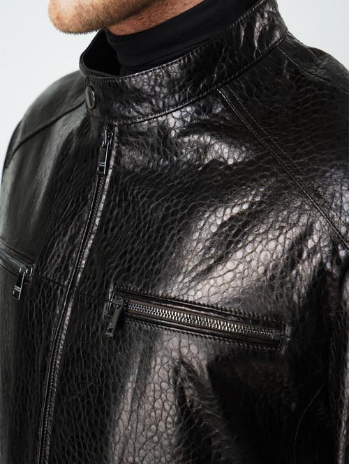 Кожаная куртка артикул 07005861/46 - фото 4