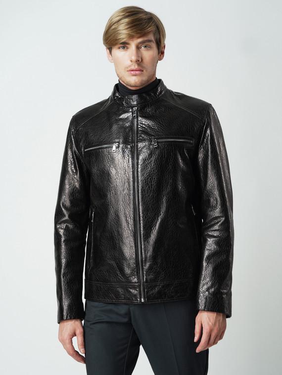 Кожаная куртка кожа баран, цвет темно-коричневый, арт. 07005861  - цена 8990 руб.  - магазин TOTOGROUP