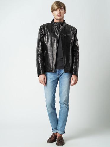 Кожаная куртка кожа баран, цвет темно-коричневый, арт. 07005864  - цена 8490 руб.  - магазин TOTOGROUP
