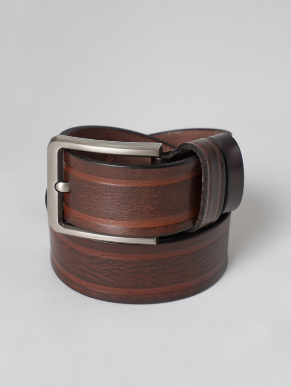 Ремень кожа корова, цвет коричневый, арт. 07006062  - цена 1490 руб.  - магазин TOTOGROUP