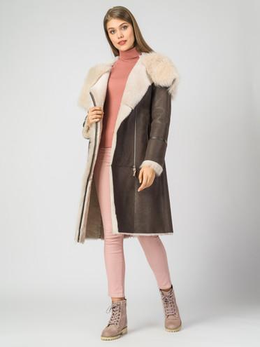 Дубленка дуб. овчина, цвет коричневый, арт. 07006113  - цена 29990 руб.  - магазин TOTOGROUP