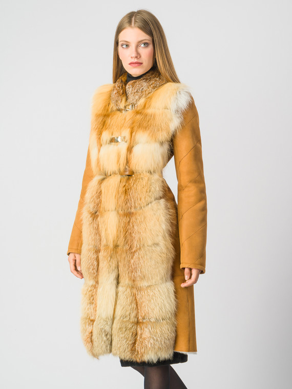 Дубленка дуб. овчина, цвет рыжий, арт. 07006144  - цена 42490 руб.  - магазин TOTOGROUP