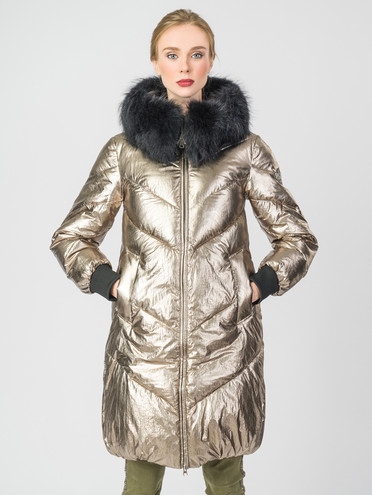 Пуховик текстиль, цвет желтый металлик, арт. 07006300  - цена 8990 руб.  - магазин TOTOGROUP