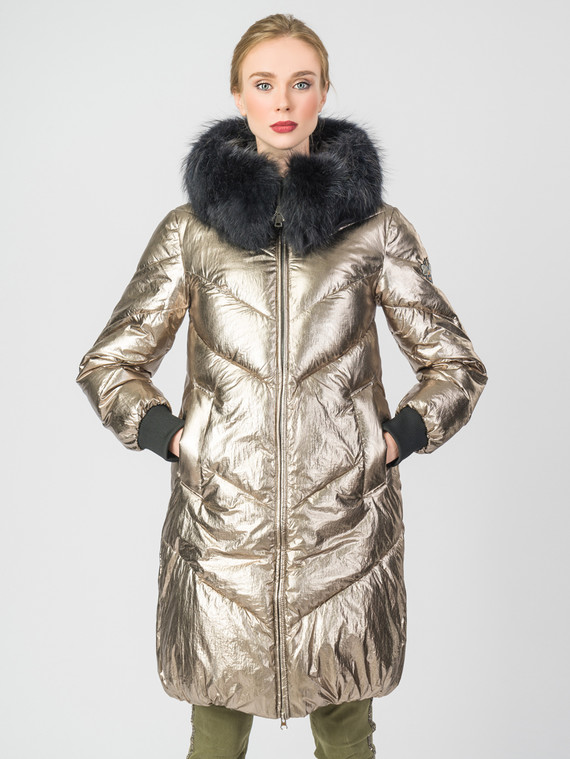 Пуховик текстиль, цвет желтый металлик, арт. 07006300  - цена 8490 руб.  - магазин TOTOGROUP