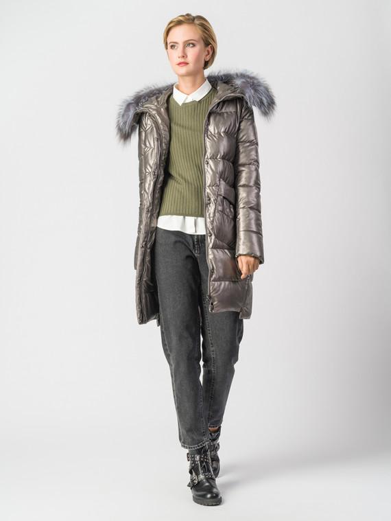 Кожаное пальто эко-кожа 100% П/А, цвет коричневый металлик, арт. 07006311  - цена 9990 руб.  - магазин TOTOGROUP