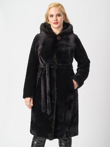 Шуба из мутона мех мутон, цвет черный, арт. 07006371  - цена 44990 руб.  - магазин TOTOGROUP