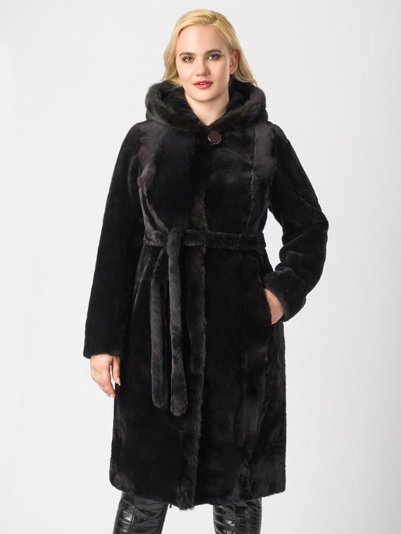 Шуба из мутона мех мутон, цвет черный, арт. 07006371  - цена 23990 руб.  - магазин TOTOGROUP