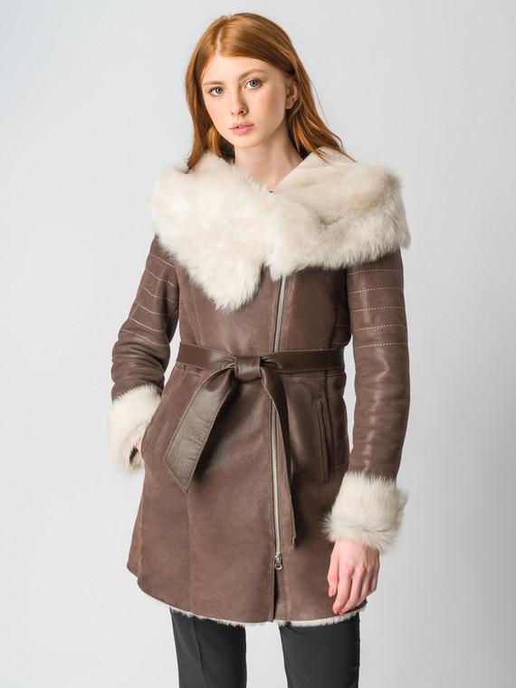 Дубленка дуб. овчина, цвет коричневый, арт. 07006432  - цена 17990 руб.  - магазин TOTOGROUP