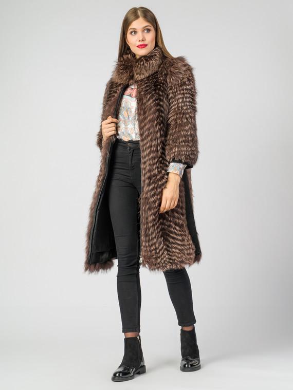 Шуба из чернобурки мех чернобурка, цвет коричневый, арт. 07006562  - цена 25590 руб.  - магазин TOTOGROUP