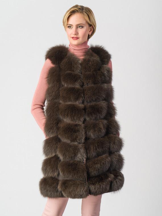Меховой жилет мех песец, цвет коричневый, арт. 07006596  - цена 21290 руб.  - магазин TOTOGROUP