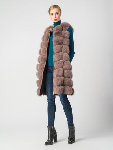 Меховой жилет мех песец, цвет светло-коричневый, арт. 07006597  - цена 22690 руб.  - магазин TOTOGROUP