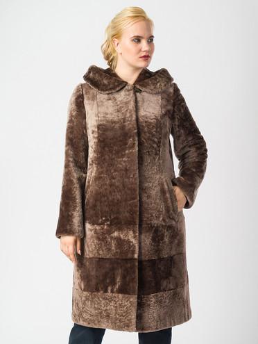Шуба из мутона мех мутон, цвет коричневый, арт. 07006634  - цена 28490 руб.  - магазин TOTOGROUP