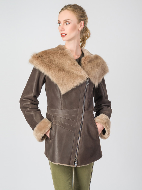 Дубленка дуб. овчина, цвет коричневый, арт. 07006719  - цена 23990 руб.  - магазин TOTOGROUP