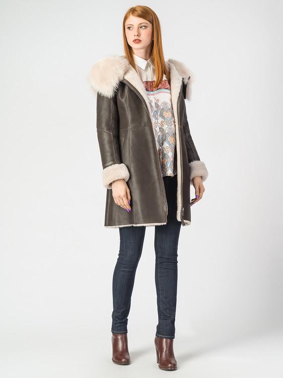 Дубленка дуб. овчина, цвет коричневый, арт. 07006722  - цена 26990 руб.  - магазин TOTOGROUP