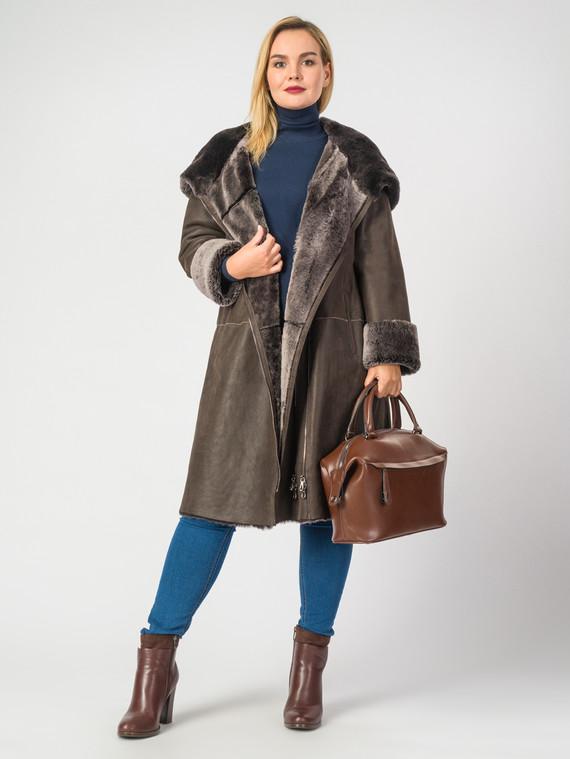 Дубленка дуб. овчина, цвет коричневый, арт. 07006730  - цена 26990 руб.  - магазин TOTOGROUP