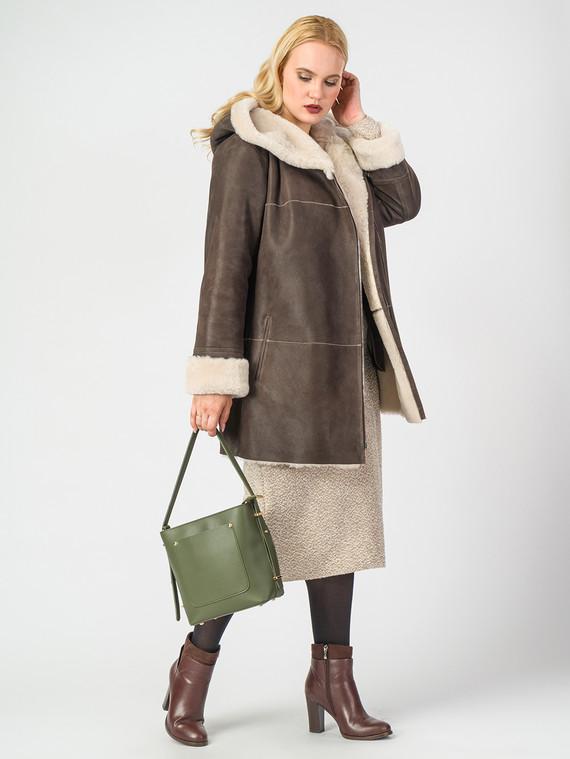 Дубленка дуб. овчина, цвет коричневый, арт. 07006731  - цена 22690 руб.  - магазин TOTOGROUP
