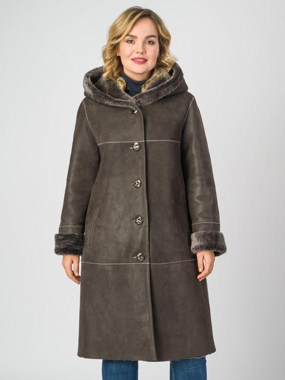 Дубленка дуб. овчина, цвет темно-коричневый, арт. 07006732  - цена 26990 руб.  - магазин TOTOGROUP