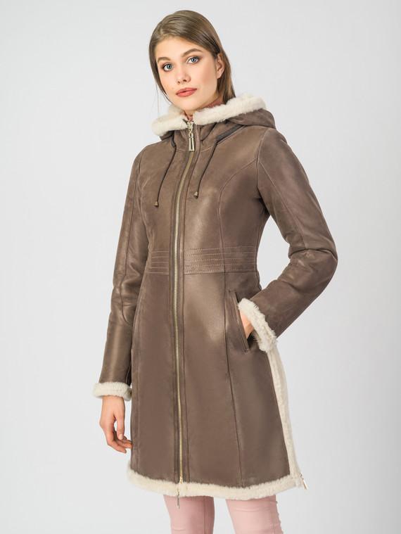 Дубленка дуб. овчина, цвет коричневый, арт. 07006759  - цена 26990 руб.  - магазин TOTOGROUP