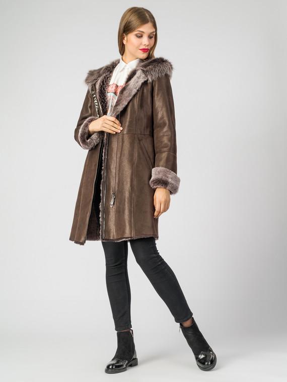 Дубленка дуб. овчина, цвет темно-коричневый, арт. 07006764  - цена 33990 руб.  - магазин TOTOGROUP