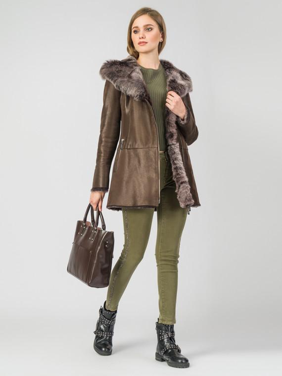 Дубленка дуб. овчина, цвет коричневый, арт. 07006768  - цена 26990 руб.  - магазин TOTOGROUP