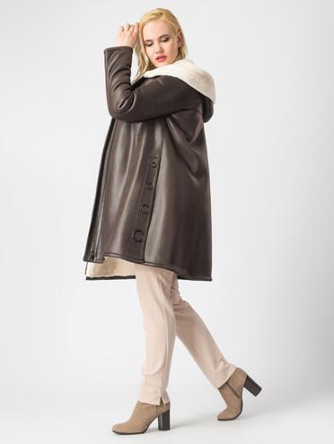Дубленка эко-замша 100% П/А, цвет коричневый, арт. 07006891  - цена 11290 руб.  - магазин TOTOGROUP
