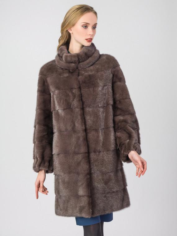 Шуба из норки мех норка, цвет коричневый, арт. 07006909  - цена 94990 руб.  - магазин TOTOGROUP