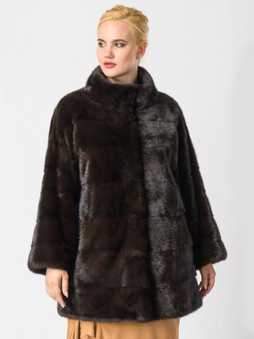 Шуба из норки мех норка, цвет темно-коричневый, арт. 07006912  - цена 63990 руб.  - магазин TOTOGROUP