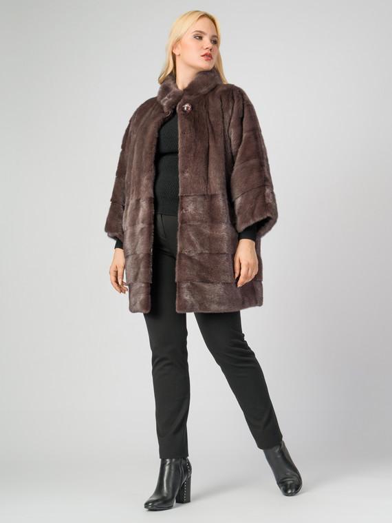 Шуба из норки мех норка, цвет коричневый, арт. 07006913  - цена 99990 руб.  - магазин TOTOGROUP