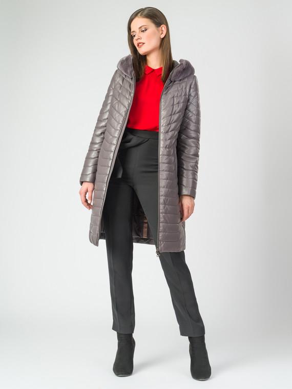 Кожаное пальто эко-кожа 100% П/А, цвет серый, арт. 07007003  - цена 11290 руб.  - магазин TOTOGROUP