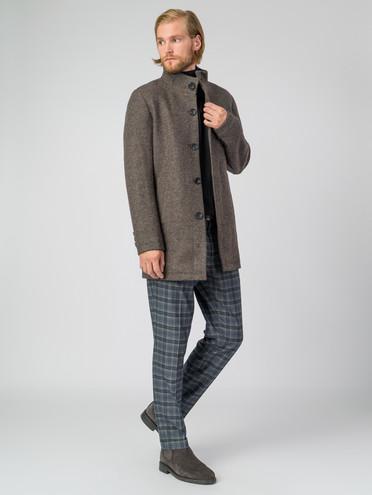 Текстильное пальто 51% п/э,49%шерсть, цвет коричневый, арт. 07007033  - цена 6990 руб.  - магазин TOTOGROUP