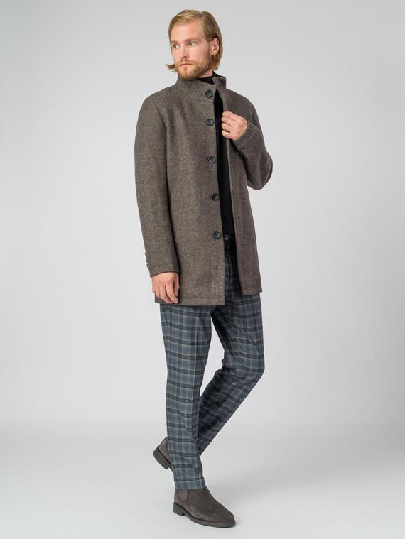 Текстильное пальто 51% п/э,49%шерсть, цвет коричневый, арт. 07007033  - цена 7990 руб.  - магазин TOTOGROUP