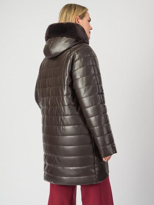 Кожаное пальто артикул 07007123/46 - фото 3