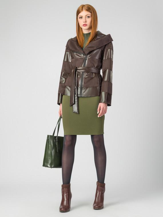 Кожаная куртка эко-кожа 100% П/А, цвет коричневый, арт. 07007126  - цена 4490 руб.  - магазин TOTOGROUP