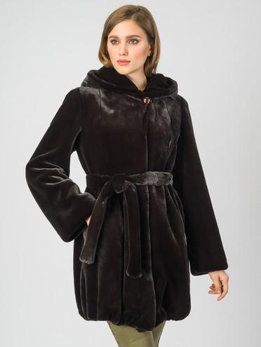 Шуба эко мех 100% П/Э, цвет темно-коричневый, арт. 07007194  - цена 5590 руб.  - магазин TOTOGROUP