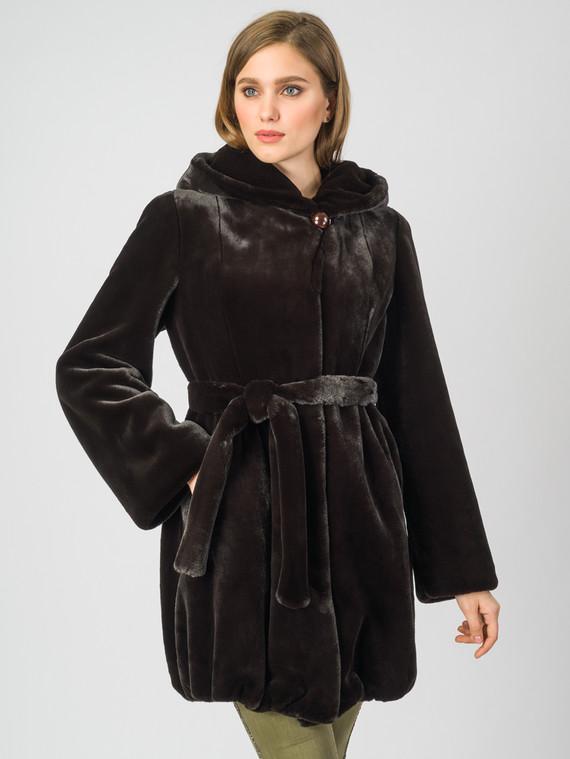 Шуба из эко-меха эко мех, цвет темно-коричневый, арт. 07007194  - цена 8990 руб.  - магазин TOTOGROUP