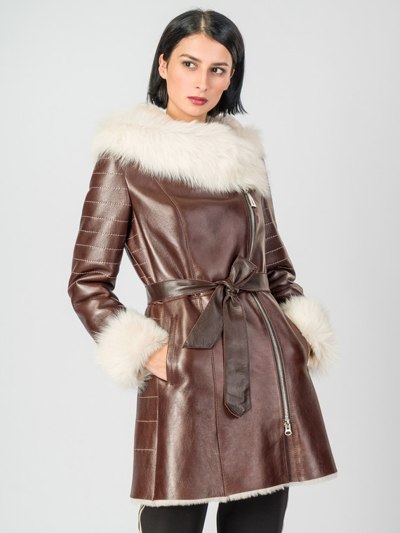Дубленка дуб. овчина, цвет коричневый, арт. 07007236  - цена 26990 руб.  - магазин TOTOGROUP