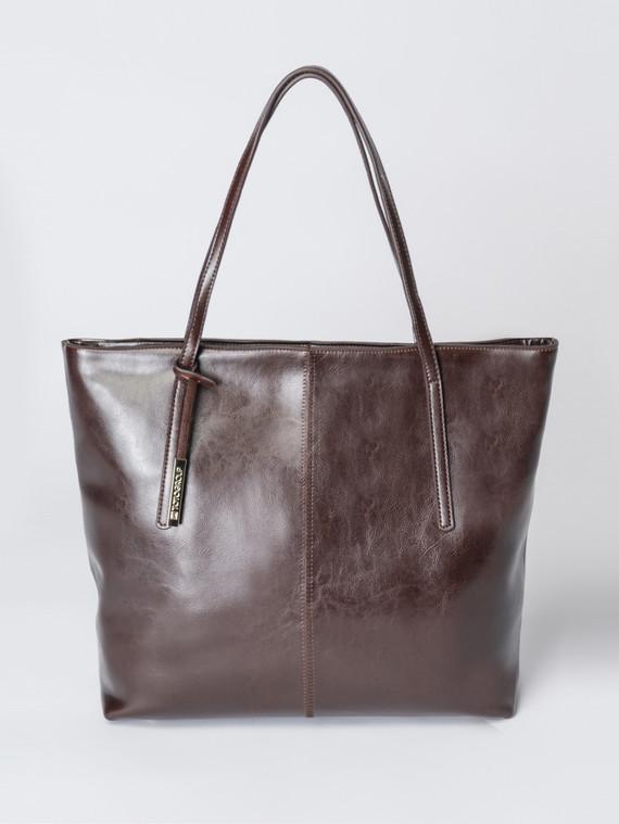 Сумка кожа теленок, цвет коричневый, арт. 07007351  - цена 5890 руб.  - магазин TOTOGROUP