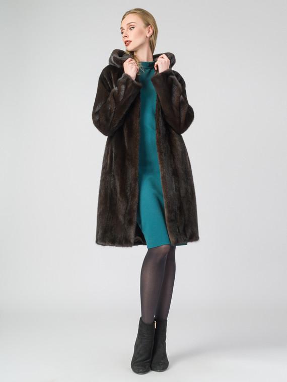 Шуба из норки мех норка, цвет темно-коричневый, арт. 07007463  - цена 119990 руб.  - магазин TOTOGROUP